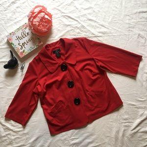 Lennie Nina Leonard Women's blazer button red